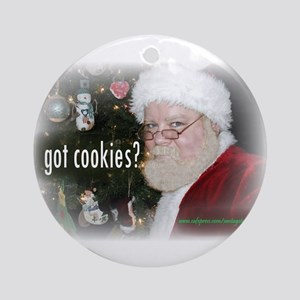 Santa - Got Cookies? Ornament (Round)