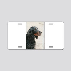 gordon setter Aluminum License Plate