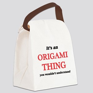 It's an Origami thing, you wo Canvas Lunch Bag