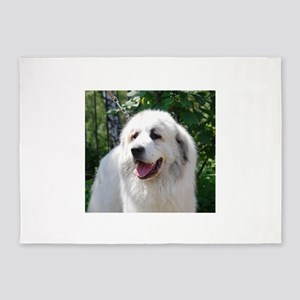 great pyreneese 5'x7'Area Rug