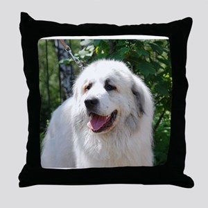 great pyreneese Throw Pillow