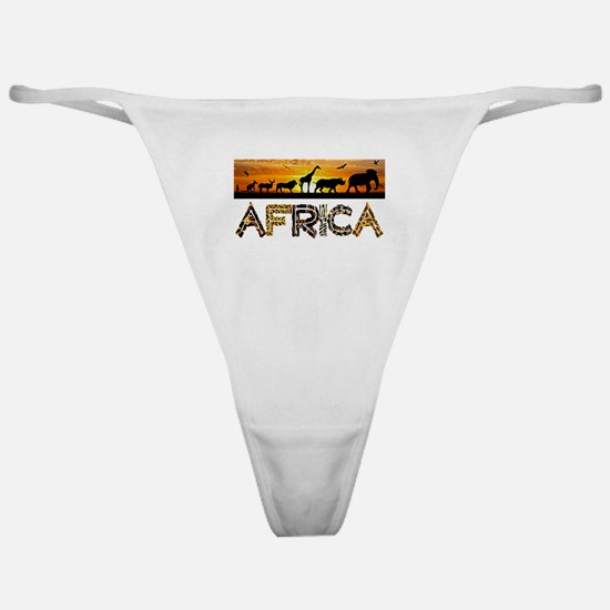 AFRICA TEXT and Animals Against Suns Classic Thong