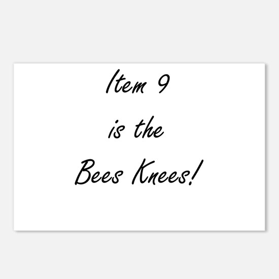 Item 9 is the Bees Knees Postcards (Package of 8)