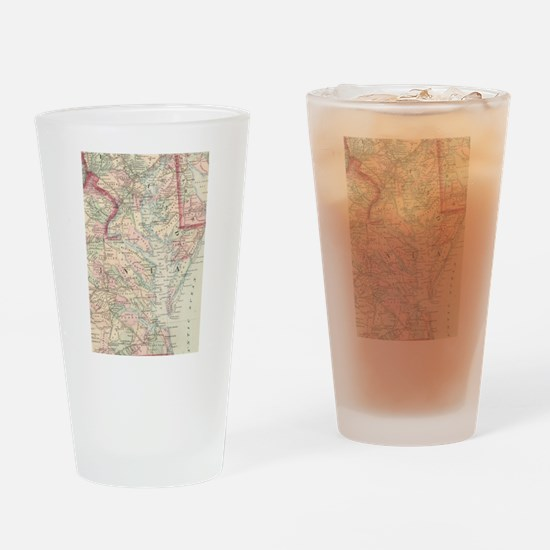 Vintage Map of The Chesapeake Bay ( Drinking Glass