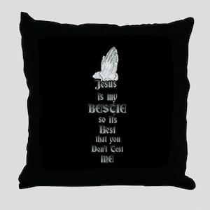 Jesus Is My Bestie Throw Pillow