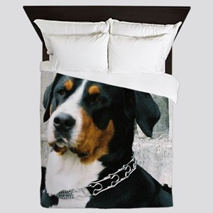 greater swiss mountain dog Queen Duvet