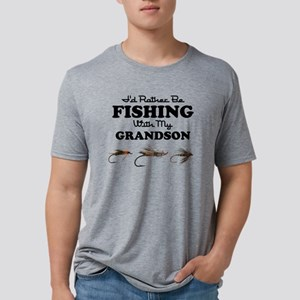 Rather Be Fishing Grandson Mens Tri-blend T-Shirt