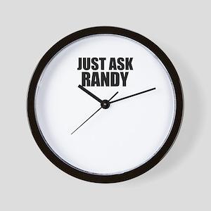 Just ask RANDY Wall Clock