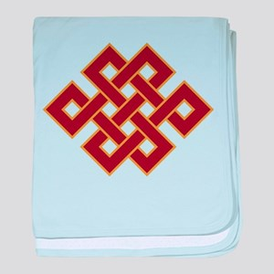 Endless knot baby blanket