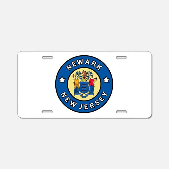 Newark Aluminum License Plate