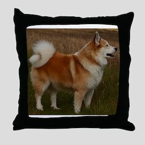 icelandic sheepdog full Throw Pillow