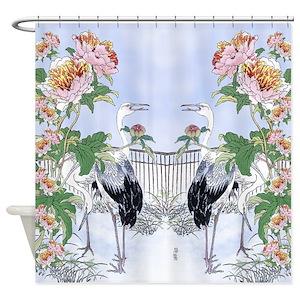 Botanical Print Shower Curtains
