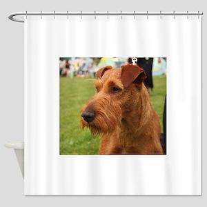 irish terrier Shower Curtain