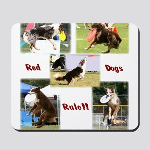 Red Dogs Rule - Frisbee! Mousepad