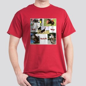 Red Dogs Rule - Frisbee! Dark T-Shirt