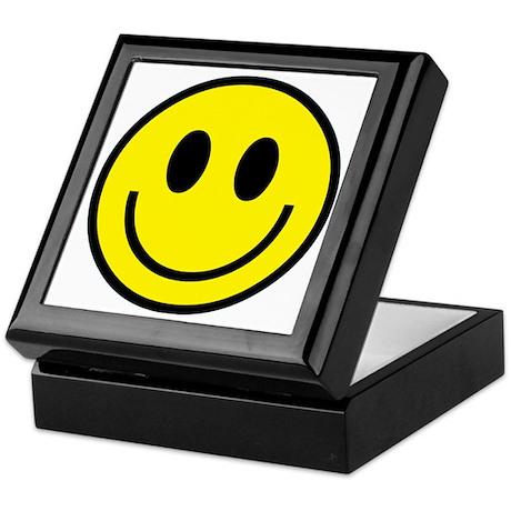 Classic Yellow Smiley Face Keepsake Box