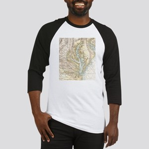 Vintage Map of The Chesapeake Bay( Baseball Jersey