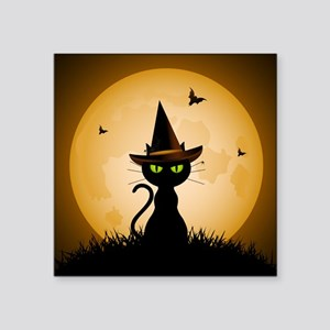 """WITCHY CAT Square Sticker 3"""" x 3"""""""