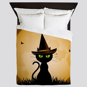 WITCHY CAT Queen Duvet