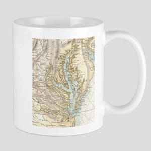 Vintage Map of The Chesapeake Bay(1778) 2 Mugs