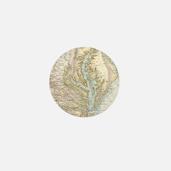 Vintage Map of The Chesapeake Bay(1778 Mini Button