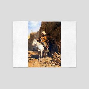 Mountain Men Western Art 5'x7'Area Rug