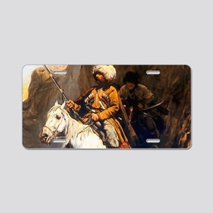 Mountain Men Western Art Aluminum License Plate