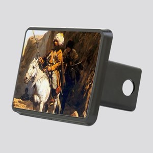 Mountain Men Western Art Rectangular Hitch Cover