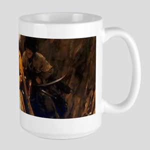 Mountain Men Western Art Large Mug