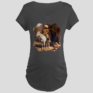 Mountain Men Western Art Maternity Dark T-Shirt