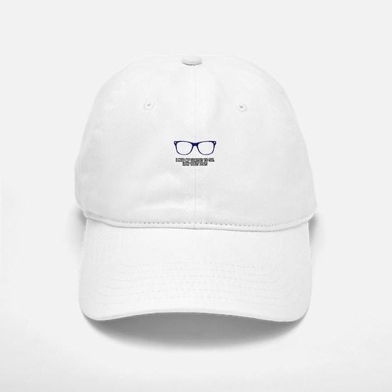 Blue Geek Glasses Baseball Baseball Cap