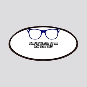 Blue Geek Glasses Patch