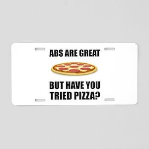 Abdominals Pizza Aluminum License Plate