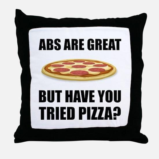Abdominals Pizza Throw Pillow