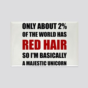Red Hair Majestic Unicorn Magnets