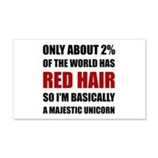 Red Hair Majestic Unicorn Wall Decal