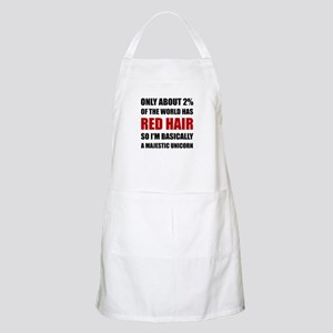 Red Hair Majestic Unicorn Apron