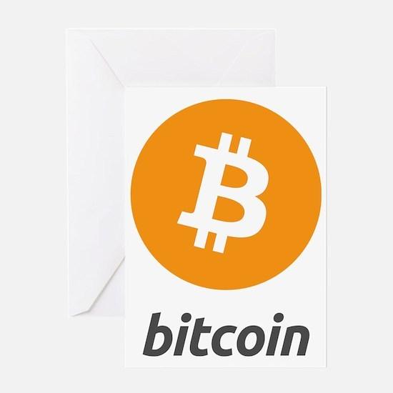 Bitcoin logo Greeting Card