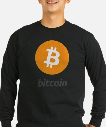 Original Bitcoin Logo Symbol D Long Sleeve T-Shirt