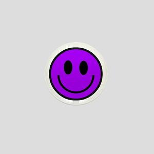 Classic Purple Smiley Face Mini Button