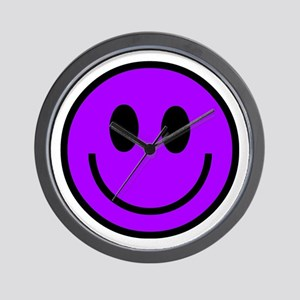 Classic Purple Smiley Face Wall Clock