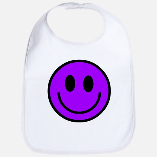 Classic Purple Smiley Face Bib