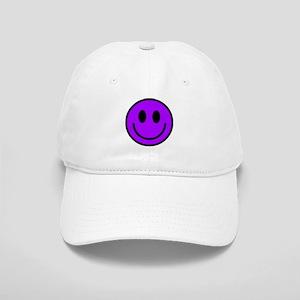 Classic Purple Smiley Face Cap