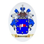 Samaniego Oval Ornament