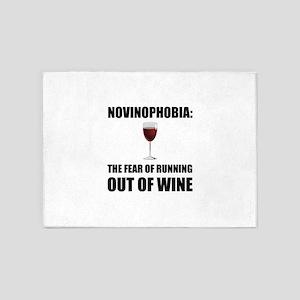 Novinophobia Wine 5'x7'Area Rug
