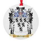 Salvage Round Ornament
