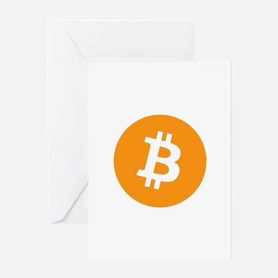 Original Bitcoin Logo Symbol Design Greeting Cards