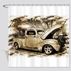 1940 Ford Pick-up Truck Shower Curtain