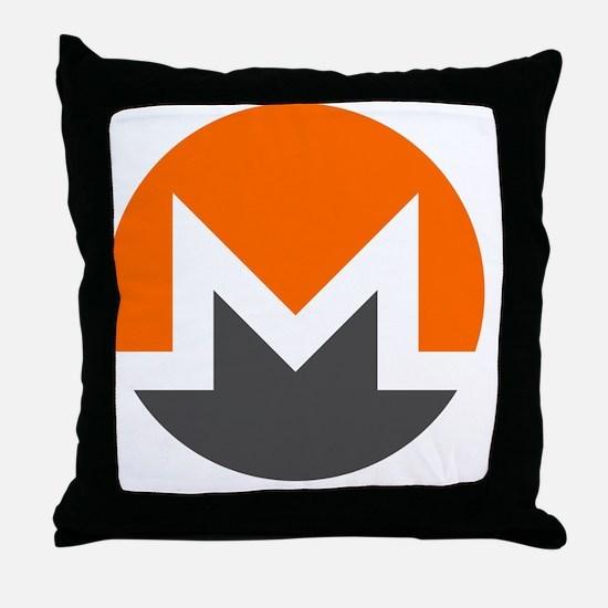 Funny Bitcoin logo Throw Pillow