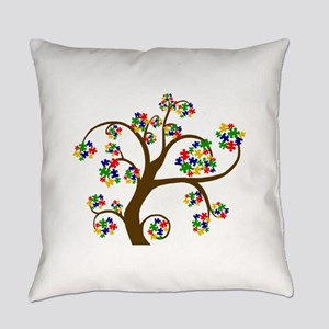 Puzzled Tree of Life Everyday Pillow